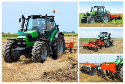 Poster Tractor collage