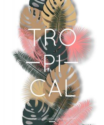 Poster Tropical design for banner, poster. Vector illustration.