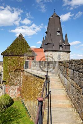 Poster Turm der Katharinenkirche und Wall der Burg Bad Bentheim