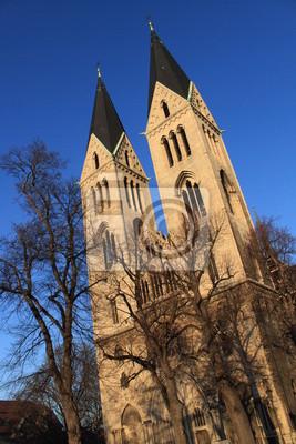 Poster Turmpaar des Halberstädter Doms
