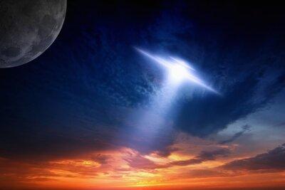 Poster Ufo in sky