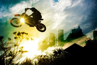 Poster Urban Dirt Bike Jump