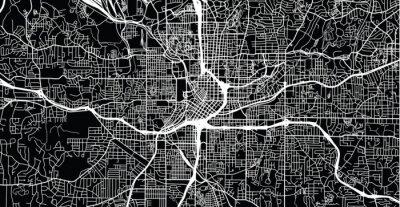 Poster Urban vector city map of Atlanta, Georgia, United States of America
