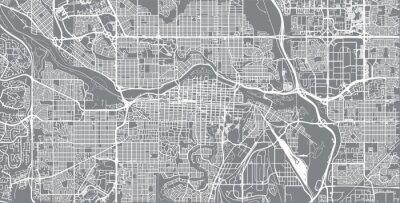 Poster Urban vector city map of Calgary, Canada