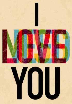 Poster Valentine's Day type text calligraphic