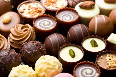 Poster variety chocolate pralines