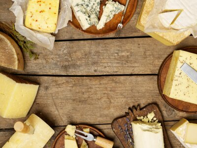 Poster Various types of cheese