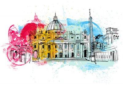 Poster Vatikan Sketch