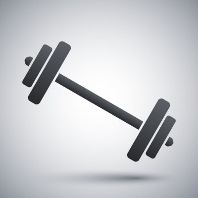 Poster Vector barbell icon