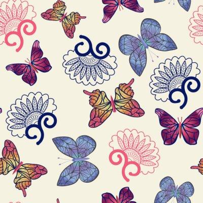 Poster Vector butterflies pattern.