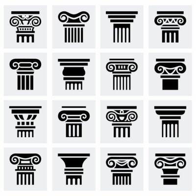 Poster Vector Column icon set