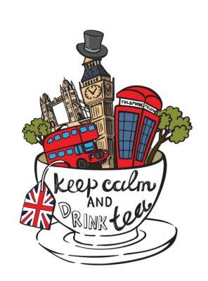 Poster vector great britain