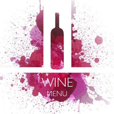 Poster Vector Illustration of Wine Design Template