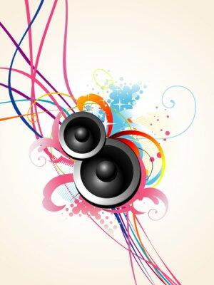 Poster vector speaker art