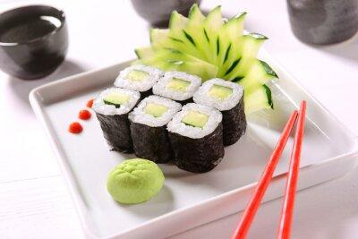 Poster Vegan sushi