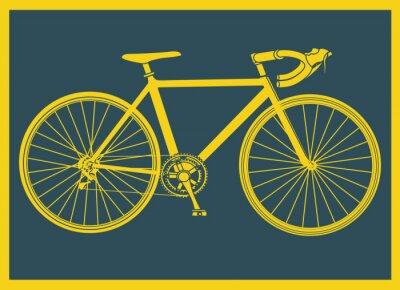 Poster Vélo de course pop