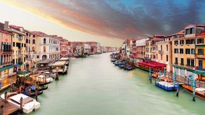 Poster Venice - Grand canal from Rialto bridge