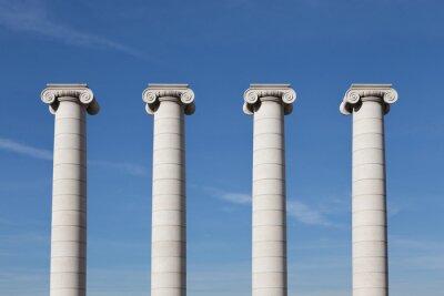 Poster Vier Säulen, Barcelona