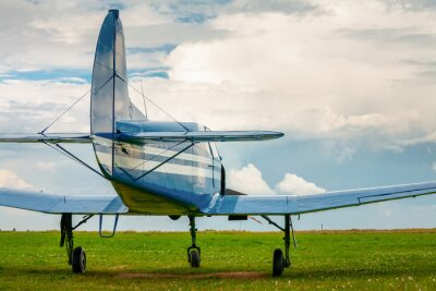 Poster Vintage light sport aircraft in the evening light