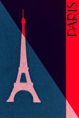 Poster Vintage Paris postal - calligraphy - hand-lettered design elemen