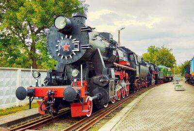 Poster Vintage Steam Locomotive