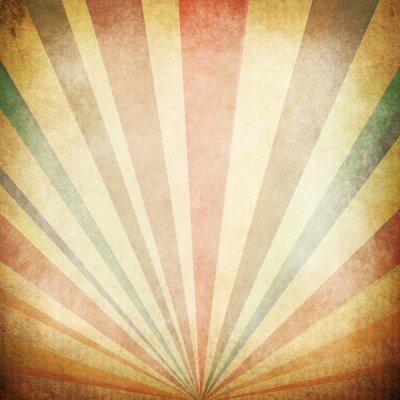 Poster Vintage Sunbeams Background