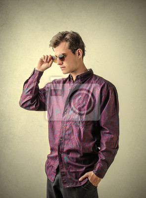 Violet shirt