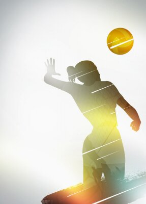 Poster Volleyball flat design background
