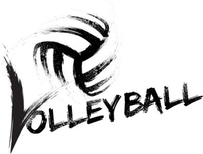 Poster Volleyball Grunge Streaks