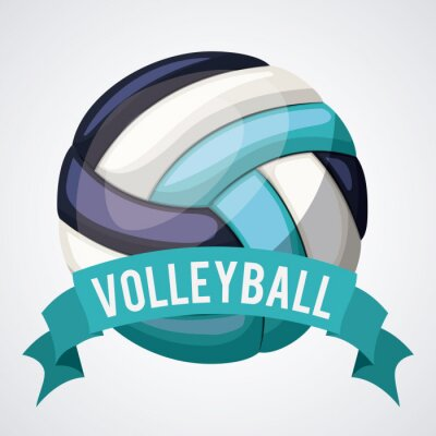 Poster volleyball league design