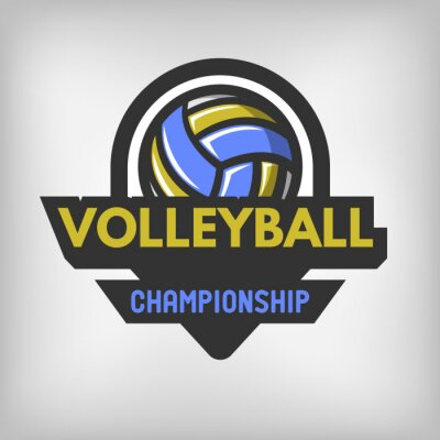 Poster Volleyball sports logo.