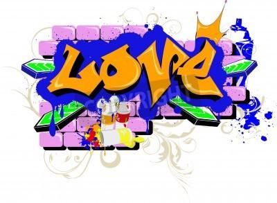Poster wall Graffiti love Urban Art