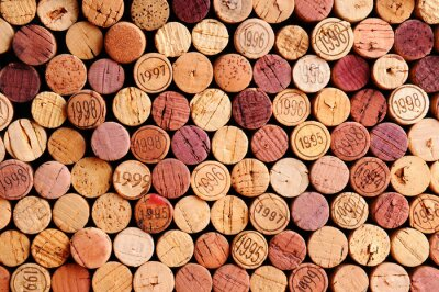 Poster Wall of Wine Corks