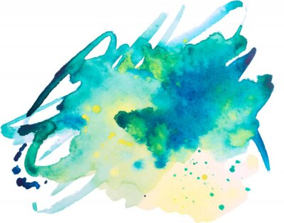 Poster watercolor blot, background, isolated on white background