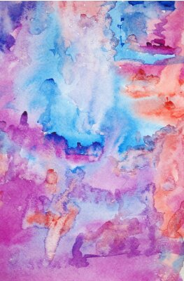 Poster Watercolor hand painted art background for scrapbooking