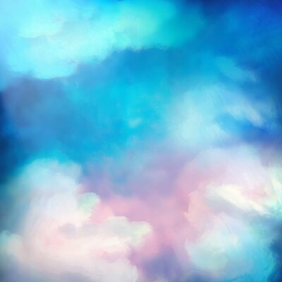 Poster Watercolor Sky Painting Vector Background