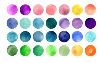 Poster Watercolour circle textures. Mega-useful pack for you to drag