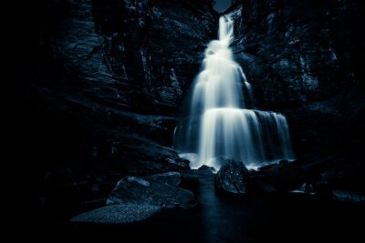Poster waterfall in the night