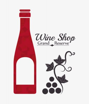 Poster Wine digital design.