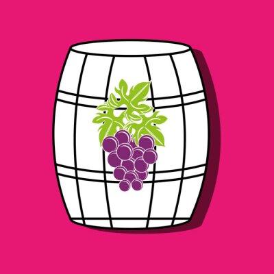 Poster wine icon design