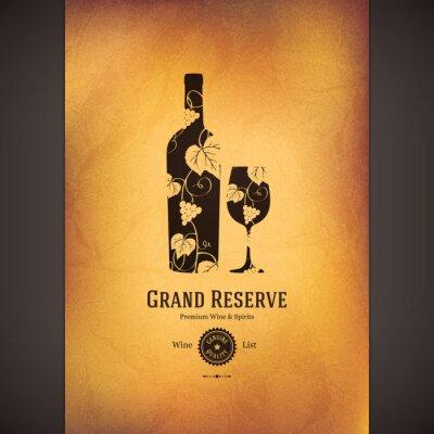 Poster Wine list design