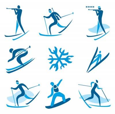 Poster Winter sport symbols