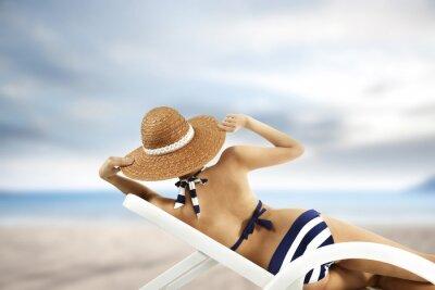 Poster woman and bikini