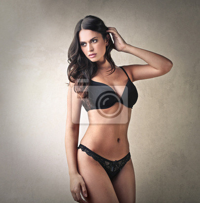 Woman wearing sensual lingerie