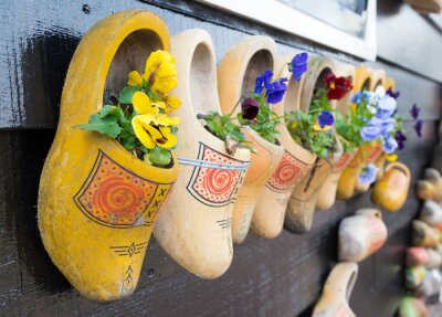 Poster wooden shoes