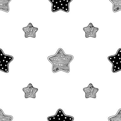 Poster Wooden stars pattern 3