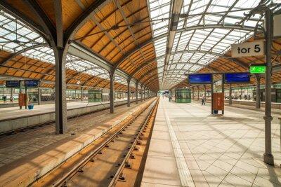 Poster wroclaw railway station