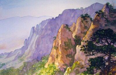 Poster Вершины гор.