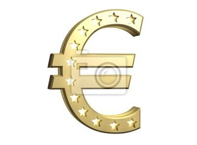 Poster € - Symbol