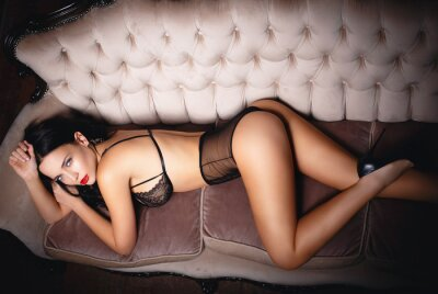 Poster Young girl in sexy lingerie
